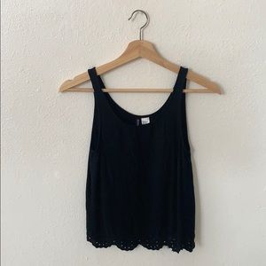 Black Tank Top with cute design at the Bottom